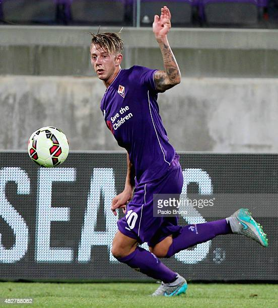 Federico Bernardeschi of ACF Fiorentina in action during the preseason friendly match between ACF Fiorentina and FC Barcelona at Artemio Franchi on...