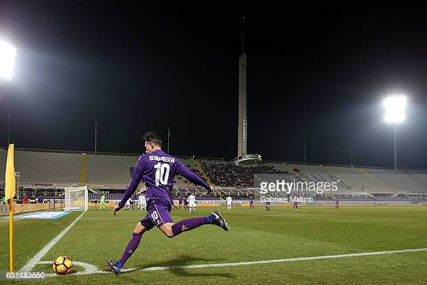 Federico Bernardeschi of ACF Fiorentina in action during the TIM Cup match between ACF Fiorentina and AC ChievoVerona at Stadio Artemio Franchi on...