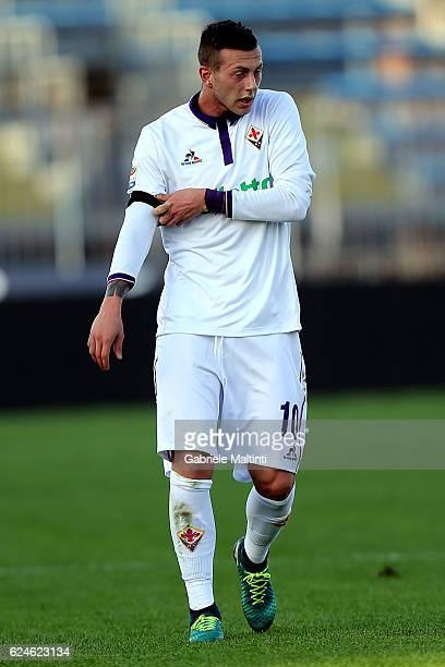Federico Bernardeschi of ACF Fiorentina reacts during the Serie A match between Empoli FC and ACF Fiorentina at Stadio Carlo Castellani on November...