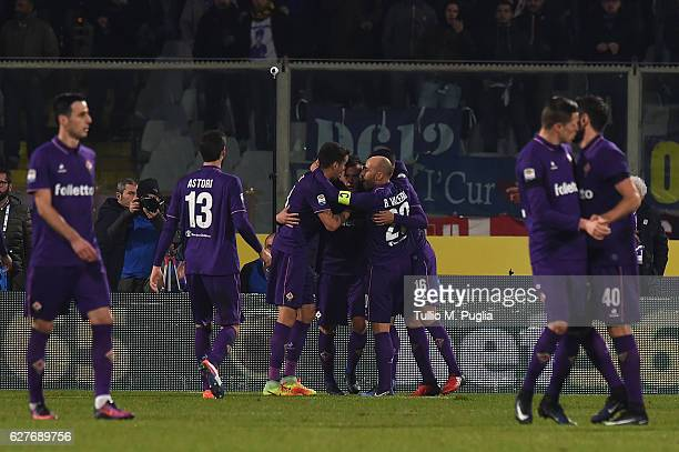 Federico Bernardeschi of Fiorentina celebrates after scoring the opening goal during the Serie A match between ACF Fiorentina and US Citta di Palermo...