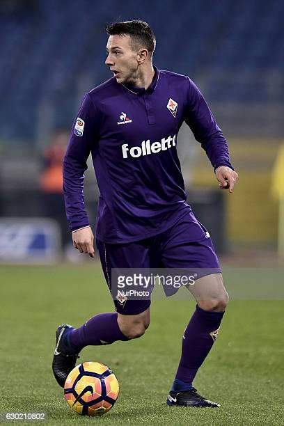 Federico Bernardeschi of Fiorentina during the Serie A match between Lazio v Fiorentina on December 18 2016 in Rome Italy