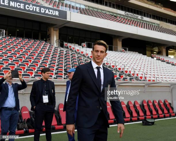 Federico Bernardeschi of Italy attends Italy walk around at Allianz Riviera Stadium on June 6 2017 in Nice France