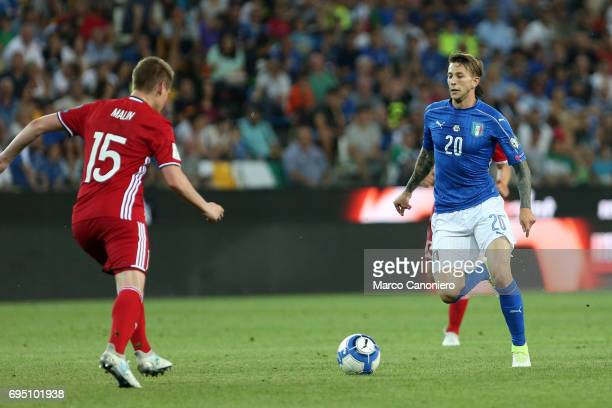 Federico Bernardeschi of Italy during the FIFA 2018 World Cup Qualifier match between Italy and Liechtenstein Italy went on to win the match 50