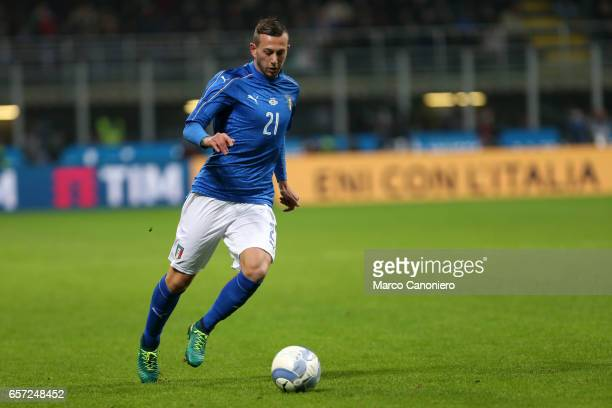 Federico Bernardeschi of Italy during the International friendly match between Italy and Germany at Giuseppe Meazza Stadium