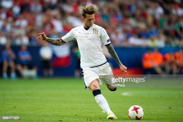 Federico Bernardeschi of Italy during the UEFA European Under21 Championship 2017 Group C between Czech Republic and Italy at Tychy Stadium in Tychy...