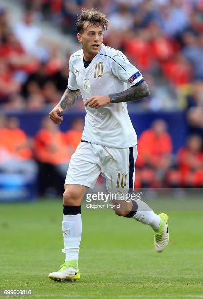 Federico Bernardeschi of Italy during the UEFA European Under21 Championship Group C match between Czech Republic and Italy at Tychy Stadium on June...