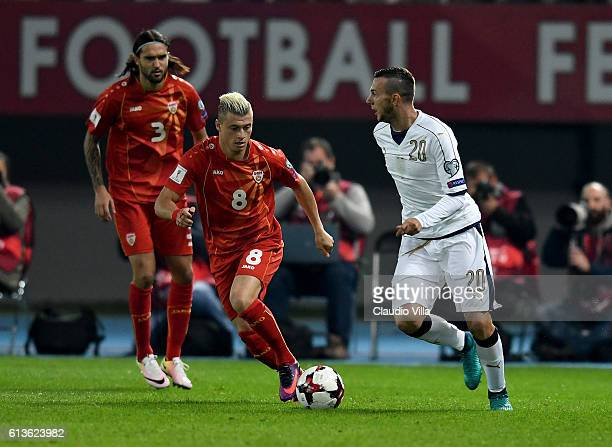 Federico Bernardeschi of Italy in action during the FIFA 2018 World Cup Qualifier between FYR Macedonia and Italy at Nacionalna Arena Filip II...