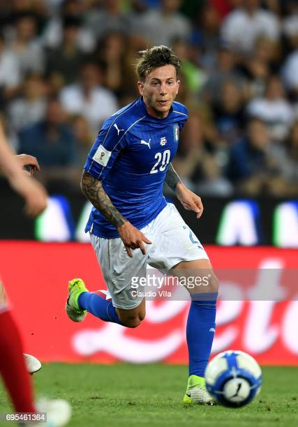 Federico Bernardeschi of Italy in action during the FIFA 2018 World Cup Qualifier between Italy and Liechtenstein at Stadio Friuli on June 11 2017 in...