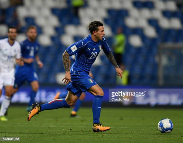 Federico Bernardeschi of Italy in action during the FIFA 2018 World Cup Qualifier between Italy and Israel at Mapei Stadium Citta' del Tricolore on...
