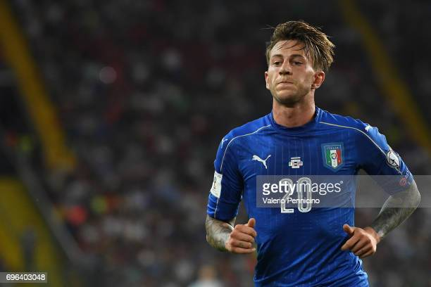 Federico Bernardeschi of Italy looks on during the FIFA 2018 World Cup Qualifier between Italy and Liechtenstein at Stadio Friuli on June 11 2017 in...