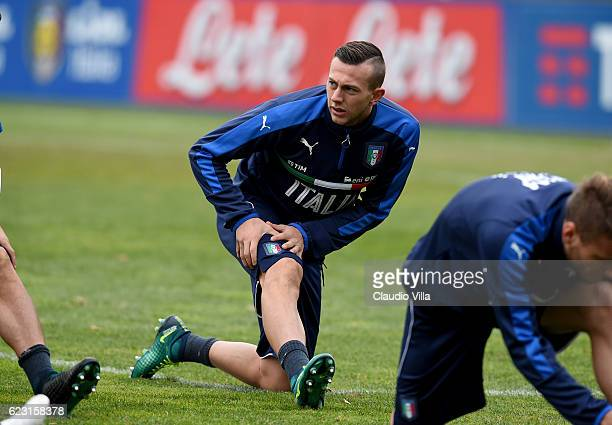 Federico Bernardeschi of Italy looks on during the training session at Milanello on November 14 2016 in Florence Italy