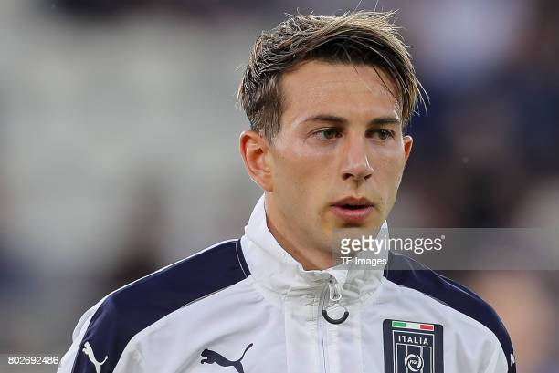 Federico Bernardeschi of Italy looks on during the UEFA U21 championship match between Italy and Germany at Krakow Stadium on June 24 2017 in Krakow...
