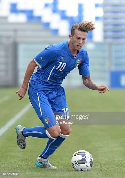 Federico Bernardeschi of Italy U21 during the 2017 UEFA European U21 Championships Qualifier between Italy U21 and Slovenia U21 at Mapei Stadium...