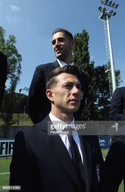 Federico Bernardeschi of Italy U21 looks on during the official team photo at Centro Sportivo Fulvio Bernardini on June 14 2017 in Rome Italy