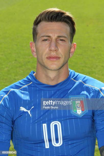 Federico Bernardeschi of Italy U21 poses during the official team photo at Centro Sportivo Fulvio Bernardini on June 14 2017 in Rome Italy