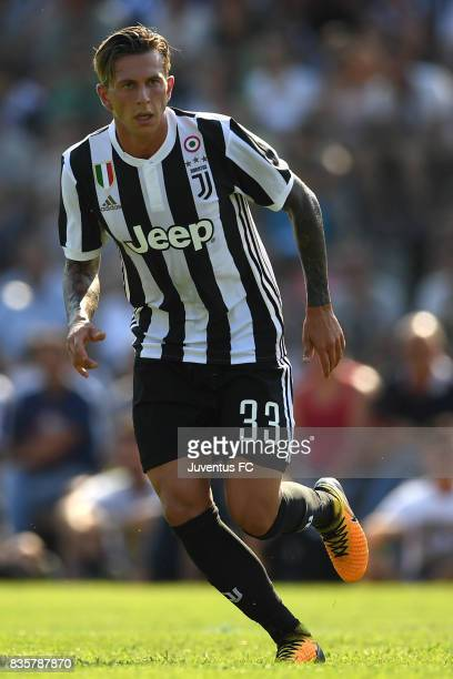 Federico Bernardeschi of Juventus A looks on during the preseason friendly match between Juventus A and Juventus B on August 17 2017 in Villar Perosa...