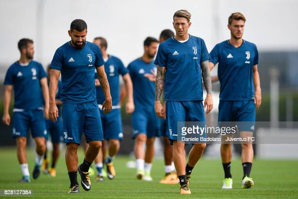 Federico Bernardeschi of Juventus during a training session on August 9 2017 in Vinovo Italy