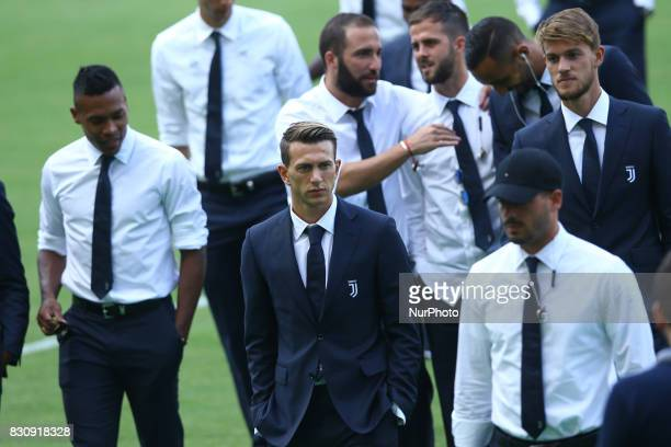 Federico Bernardeschi of Juventus during the Juventus Walk Around ahead of the Italian Supercup at Olimpico Stadium on August 12 2017 in Rome Italy