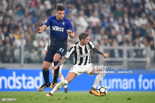 Federico Bernardeschi of Juventus during the Serie A match between Juventus and SS Lazio on October 14 2017 in Turin Italy