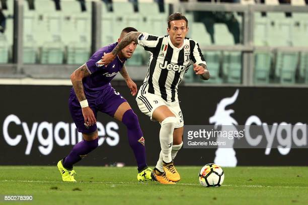 Federico Bernardeschi of Juventus FC in action during the Serie A match between Juventus and ACF Fiorentina on September 20 2017 in Turin Italy