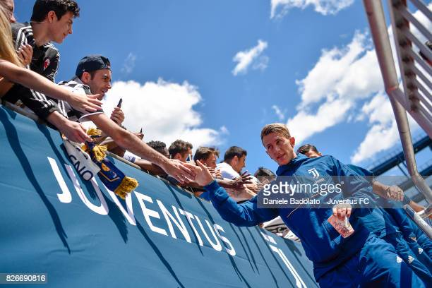 Federico Bernardeschi of Juventus in action before the International Champions Cup 2017 match between AS Roma and Juventus at Gillette Stadium on...