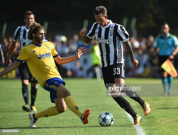Federico Bernardeschi of Juventus in action during the preseason friendly match between Juventus A and Juventus B on August 17 2017 in Villar Perosa...