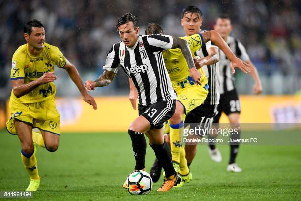 Federico Bernardeschi of Juventus in action during the Serie A match between Juventus and AC Chievo Verona on September 9 2017 in Turin Italy