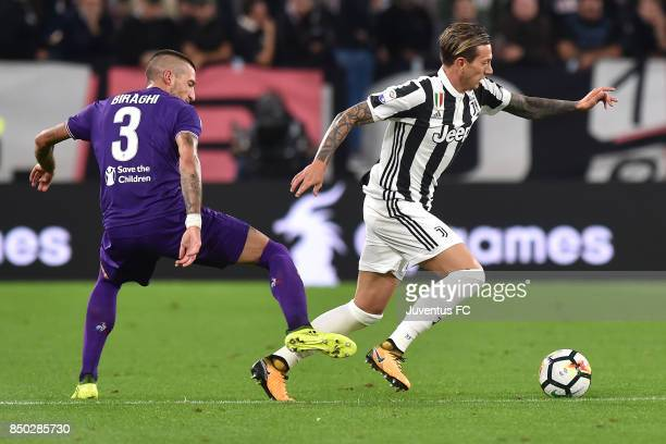 Federico Bernardeschi of Juventus in action during the Serie A match between Juventus and ACF Fiorentina on September 20 2017 in Turin Italy