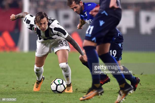 Federico Bernardeschi of Juventus in action during the Serie A match between Juventus and SS Lazio on October 14 2017 in Turin Italy