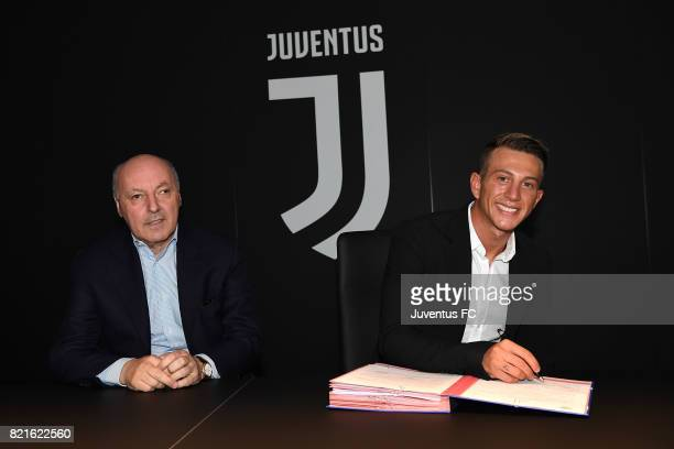 Federico Bernardeschi signs for Juventus on July 24 2017 in Turin Italy