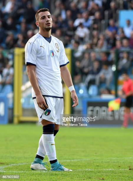 Federico Bonazzoli of Italy U20 disappointed during the 8 Nations Tournament match between Italy U20 and England U20 on October 5 2017 in Gorgonzola...