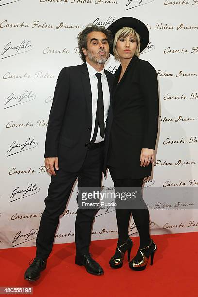 Federico Brugia and Malika Ayane attend the 'Caserta Palace Dream' premiere at Capitol Club on March 25 2014 in Rome Italy