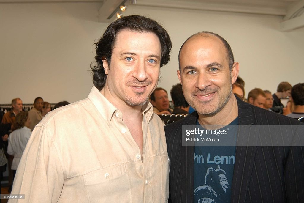 Federico Castelluccio and John Varvatos attend John Varvatos' 3rd Annual Stuart House Charity Benefit at John Varvatos Boutique on March 5 2005 in...