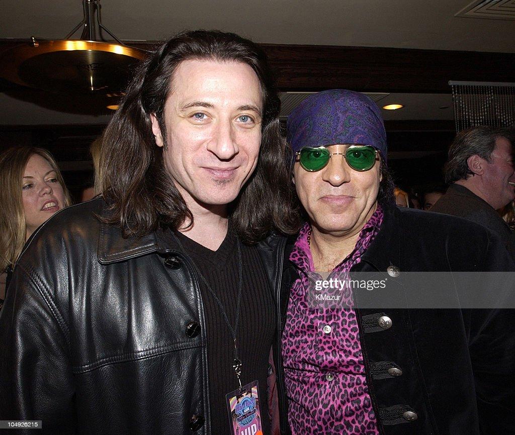 Federico Castelluccio and Little Steven Van Zandt during Hard Rock Cafe Presents 'Little Steven's Underground Garage' radio show at the Hard Rock Cafe in NYC at Hard Rock Cafe NYC in New York City, New York, United States.