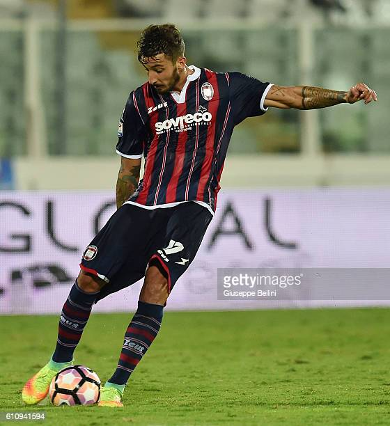 Federico Ceccherini of FC Crotone in action during the Serie A match between FC Crotone and Atalanta BC at Adriatico Stadium on September 26 2016 in...