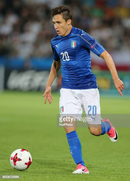Federico Chiesa during the UEFA U21 European Championship Group C football match Italy v Germany in Krakow Poland on June 24 2017