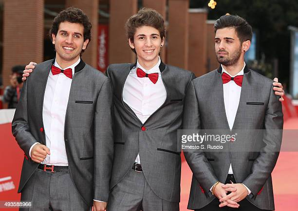 Federico Clapis Favij and Leonardo De Carli attend a red carpet for 'Game Therapy' during the 10th Rome Film Fest on October 21 2015 in Rome Italy