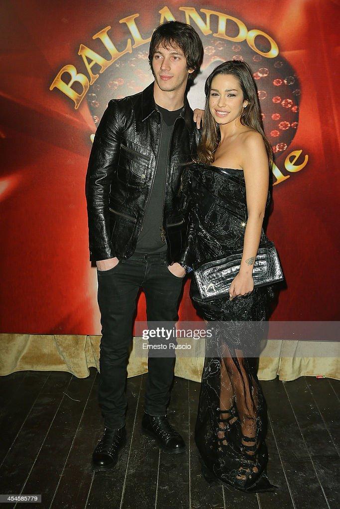 Federico Costantini and Sofia Valleri attend the 'Ballando con le stelle' 100th Episode Party at La Villa on December 9, 2013 in Rome, Italy.