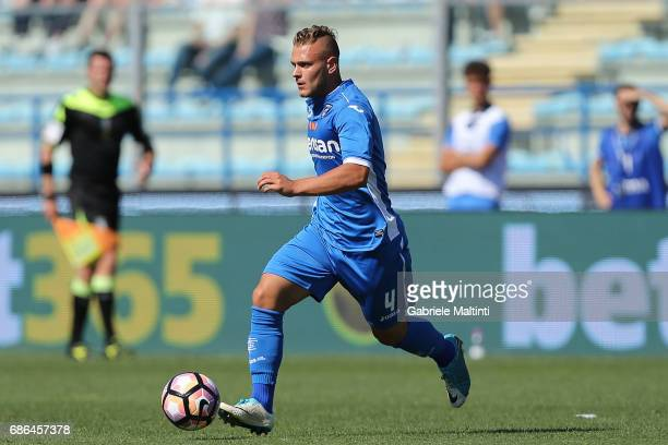 Federico Dimarco of Empoli FC in action during the Serie A match between Empoli FC and Atalanta BC at Stadio Carlo Castellani on May 21 2017 in...