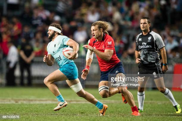 Federico Favaro Garcia of Uruguay in action during 2017 World Rugby Sevens Series Qualifying's match between Chile and Uruguay as part of the HSBC...