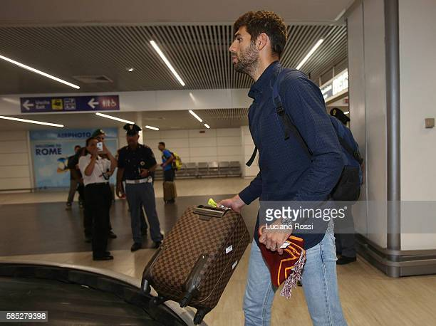 Federico Fazio arrives at Fiumicino Airport on August 2 2016 in Rome Italy