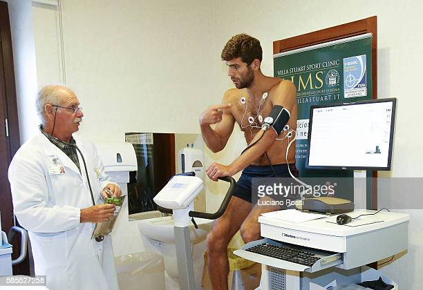 Federico Fazio attends medical tests at Villa Stuart on August 3 2016 in Rome Italy