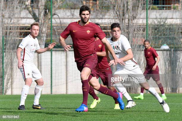 Federico Fazio is seen during an AS Roma training session at Centro Sportivo Fulvio Bernardini on March 24 2017 in Rome Italy