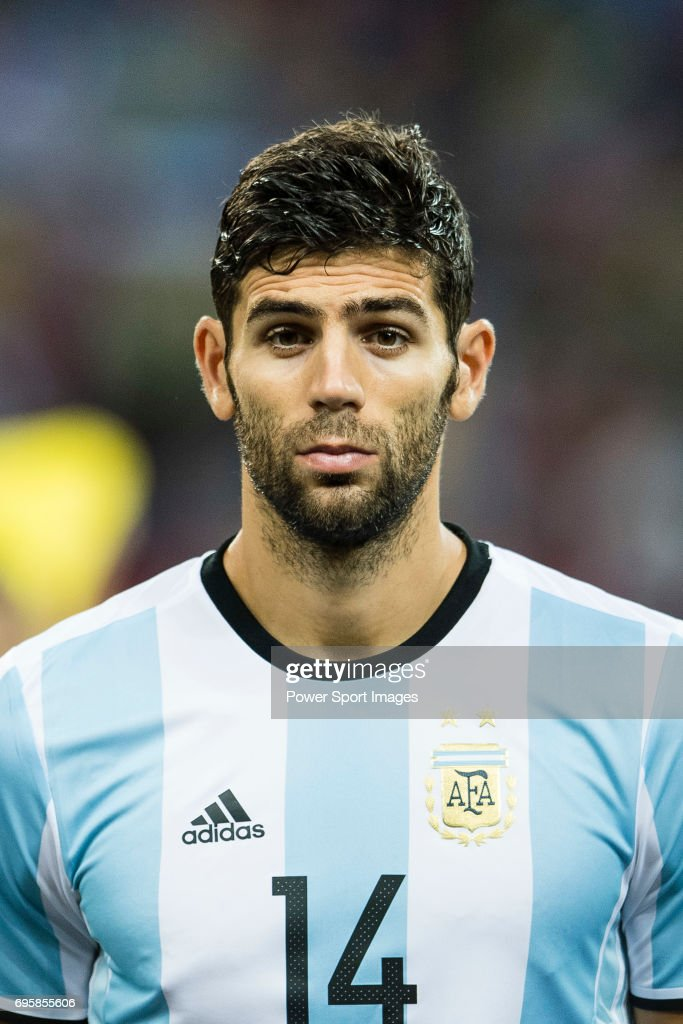 Federico Fazio of Argentina during the International Test match between Argentina and Singapore at National Stadium on June 13, 2017 in Singapore.