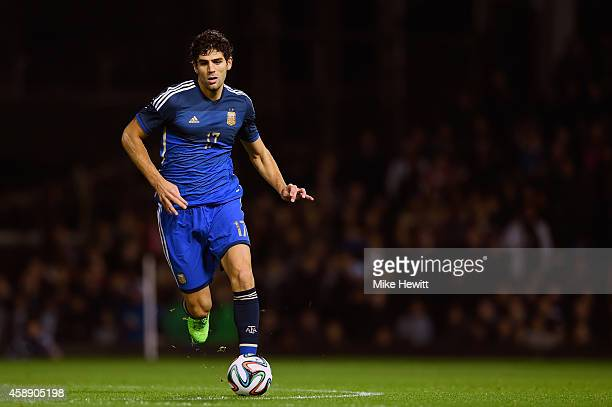 Federico Fazio of Argentina in action during an International Friendly between Argentina and Croatia at Boleyn Ground on November 12 2014 in London...