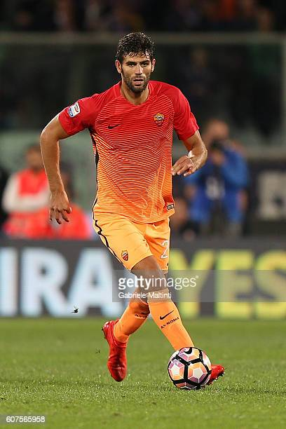 Federico Fazio of AS Roma during the Serie A match between ACF Fiorentina and AS Roma at Stadio Artemio Franchi on September 18 2016 in Florence Italy