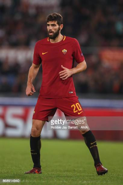 Federico Fazio of AS Roma during the UEFA Champions League group C match between AS Roma and Chelsea FC at Stadio Olimpico on October 31 2017 in Rome...