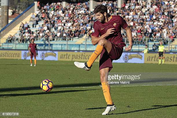 Federico Fazio of AS Roma in action during the Serie A match between Empoli FC and AS Roma at Stadio Carlo Castellani on October 30 2016 in Empoli...