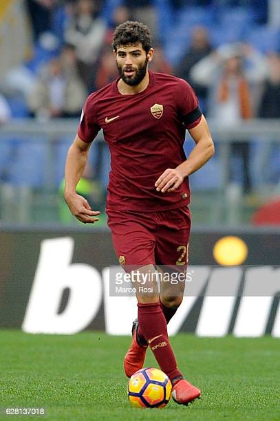 Federico Fazio of AS Roma in action during the Serie A match between SS Lazio and AS Roma at Stadio Olimpico on December 4 2016 in Rome Italy
