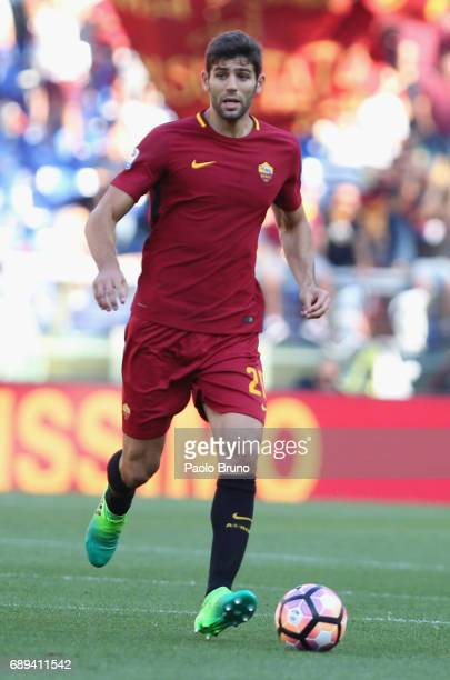 Federico Fazio of AS Roma in action during the Serie A match between AS Roma and Genoa CFC at Stadio Olimpico on May 28 2017 in Rome Italy
